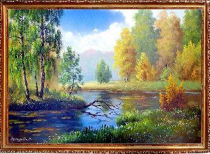 Яркие краски осени - Осенний пейзаж <- Картины маслом <- Картины - Каталог   Универсальный интернет-магазин подарков и сувениров
