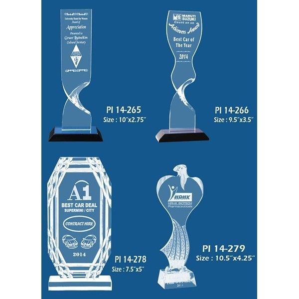 Engraved Acrylic Trophies Promotional Trophy Manufacturer Trophies. #crystaltrophy #trophy