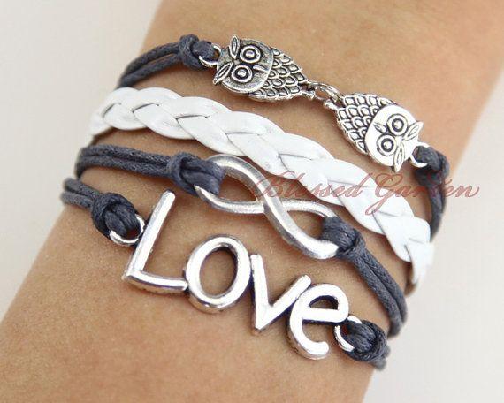 Hey, I found this really awesome Etsy listing at https://www.etsy.com/listing/121290660/bracelet-infinity-bracelet-owls-bracelet