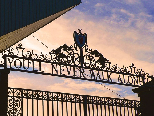 Shankly Gates at  Anfield, Liverpool FC