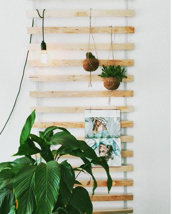 A cute hack ideas using an Ikea SULTAN bed slats for wall a lovely wall shelf/storage piece / 10 Impressive IKEA Hack Ideas for Fall   Poppytalk