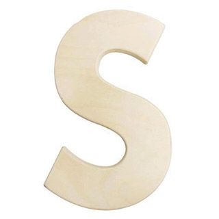 large wooden letters 12 inch unfinished wood letter s