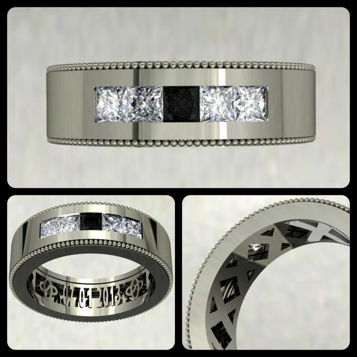 Who says the men have to wear a plain wedding band? I design men's rings to be unique and distinctive. Here is a band I'm working on that will incorporate white and black diamonds. Inside the band will be their wedding date, as well as their initials, stylized into a custom logo. At The Diamond Studio, my creativity allows your ideas to come to life! This is what I do. #diamonds #weddingband #jewellery #jewelry #weddings #thediamondstudio