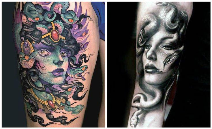 Tatuaggi con Medusa, mostro della mitologia greca 25