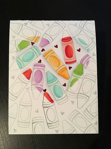 Spotlight Coloring Done on this one layer/one hit wonder card. Features: Lawn Fawn Color My World | Flickr - Photo Sharing!