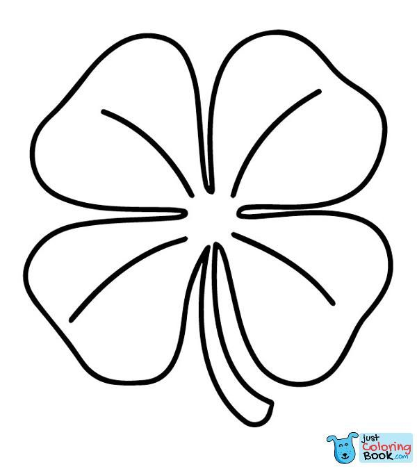 Top 20 Free Printable Four Leaf Clover Coloring Pages Online In Free Two Four Leaf Clovers Coloring Pages Download More Free Printa Kleurplaten Keramiek Ideeen