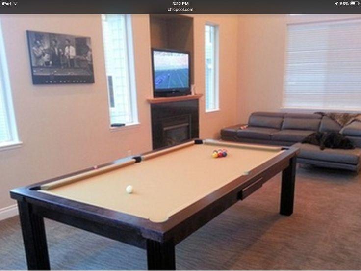 Modern Elvis Convertible Pool Table