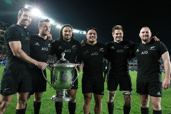 6 All Blacks who played their final test match on NZ soil - Conrad Smith, Daniel Carter, Ma'a Nonu., Kevin Mealamu, Richard McCaw, Tony Woodcock
