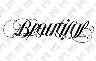 Beautiful / Disaster  Ambigram By Mark Palmer