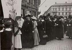 Kvinnlig rösträtt i Sverige – Wikipedia