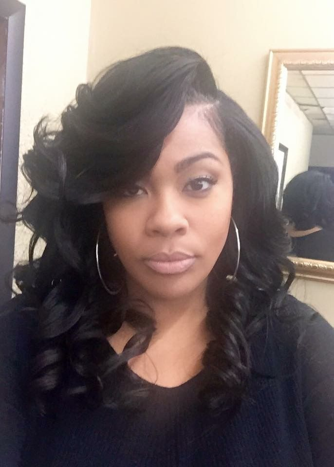 Long Layered Full Sew In With Curls And Heavy Feathered