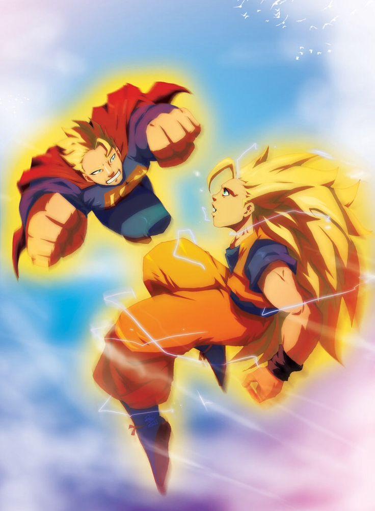 goku ssj3 vs superman - photo #16