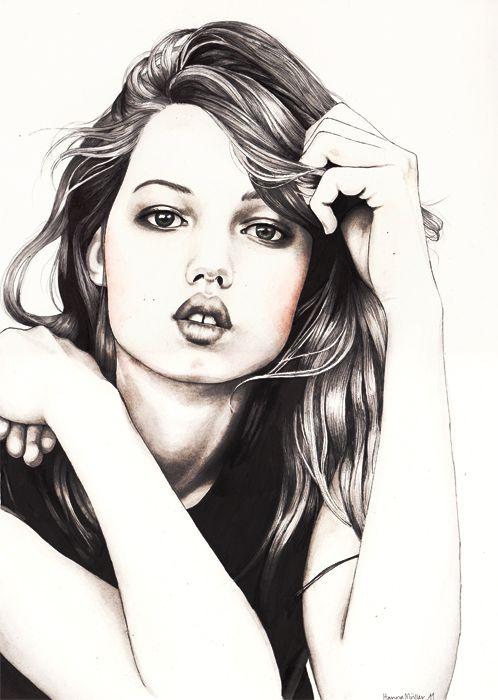 Hanna Müller #draw #painting #illustration