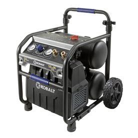 Kobalt 2 Hp 5 Gallon 175 Psi 120 Volt Twin Stack Portable