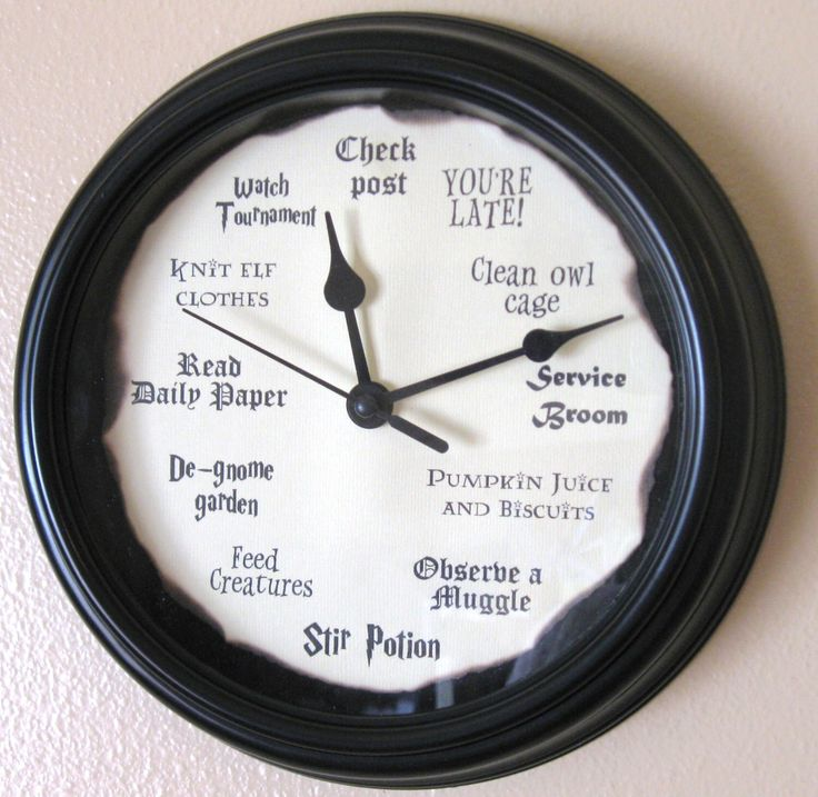 Harry Potter Clock by LetterThings on Etsy https://www.etsy.com/listing/218346728/harry-potter-clock