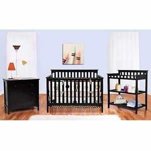 Black nursery furniture set