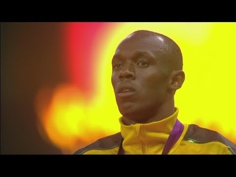 Athletics Men's 100m Medal Ceremony - Usain Bolt - London 2012 Olympic Games