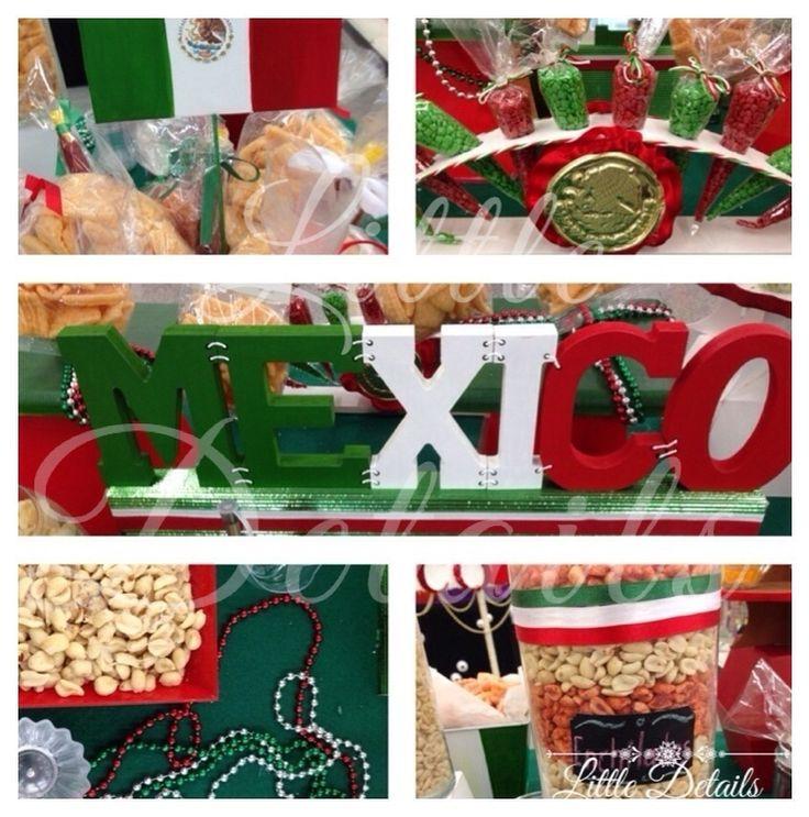 15 de Septiembre Mesa de dulces y botanas para el grito. #VivaMexico #candybar #AlGritoDe Little Details