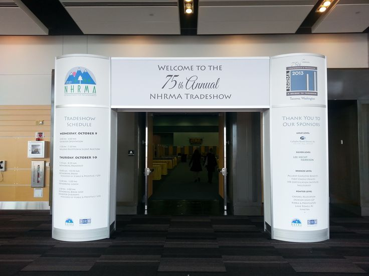 Entrance With Custom Graphics For Nhmra Annual Conference
