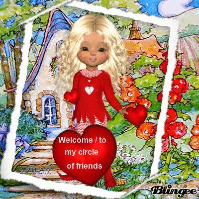 Welcome / to my circle of friends/Bienvenido/a a mi círculo de amigos (I.M.S.T.)
