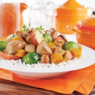 Mijoté de porc pommes, citrouille et érable - Recettes - Cuisine et nutrition - Pratico Pratique