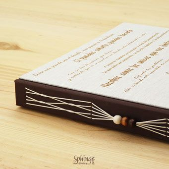 Álbum de fotos artesanal con frases