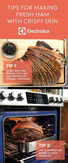 Cooking ham this holiday season? Try this recipe from Electrolux and Chef Vivian Howard. Make the perfect fresh ham roast -- juicy on the inside and unbelievably crispy on the outside. With the Electrolux Perfect Taste Temp Probe, roasts are always cooked to the perfect temperature. Pair your roasted ham with a warm, sweet and tart vinaigrette to serve. Click for the full recipe.