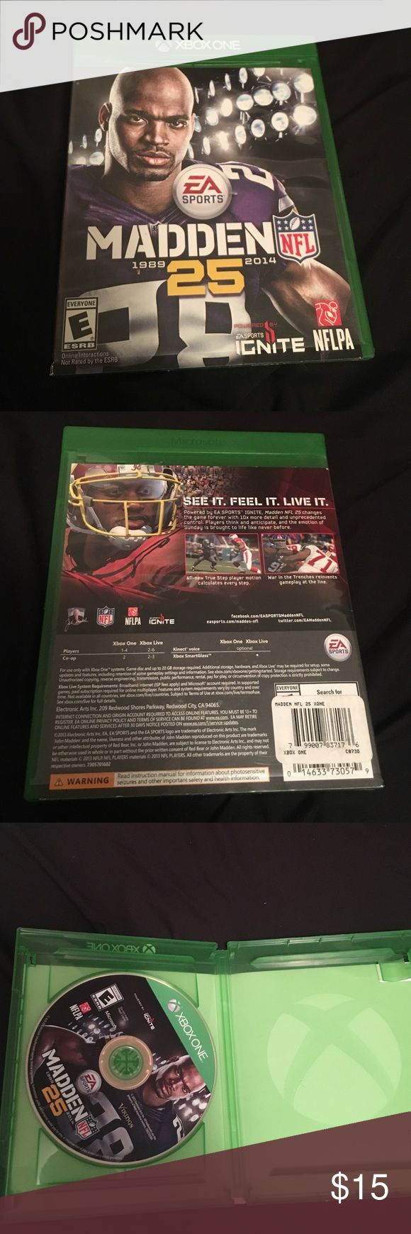 Madden 25 No scratches on the CD. slight scratches on the case. Might trade make an offer. Xbox One Other
