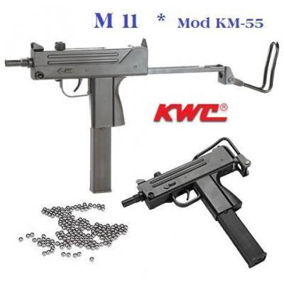 Réplique Pistolet mitrailleur Ingram M11 (Réplique Usi)  « KWC » Cal 4.5  Billes Acier