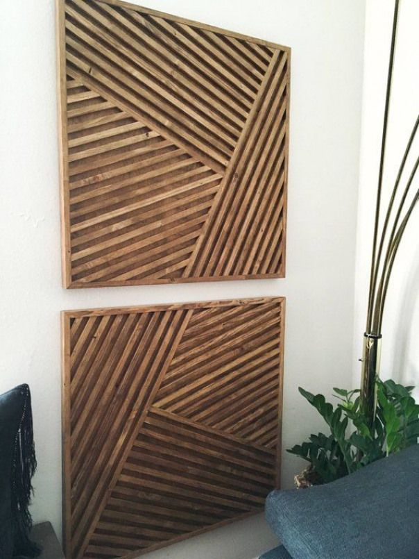Wood Art Wall Geometric