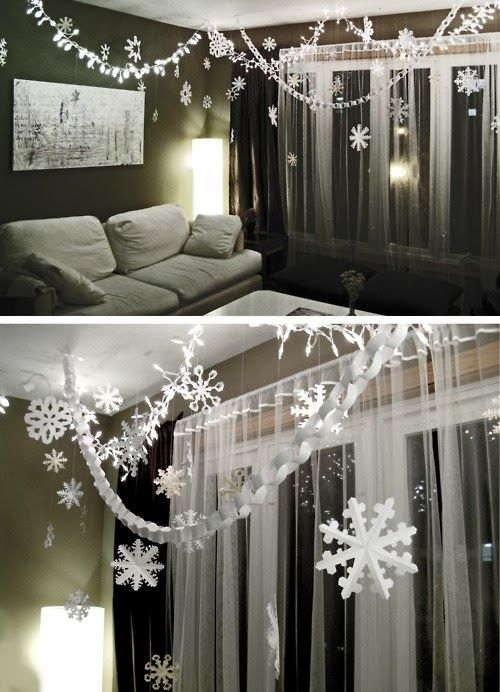 The Best DIY and Decor: Paper Chains and Snowflakes