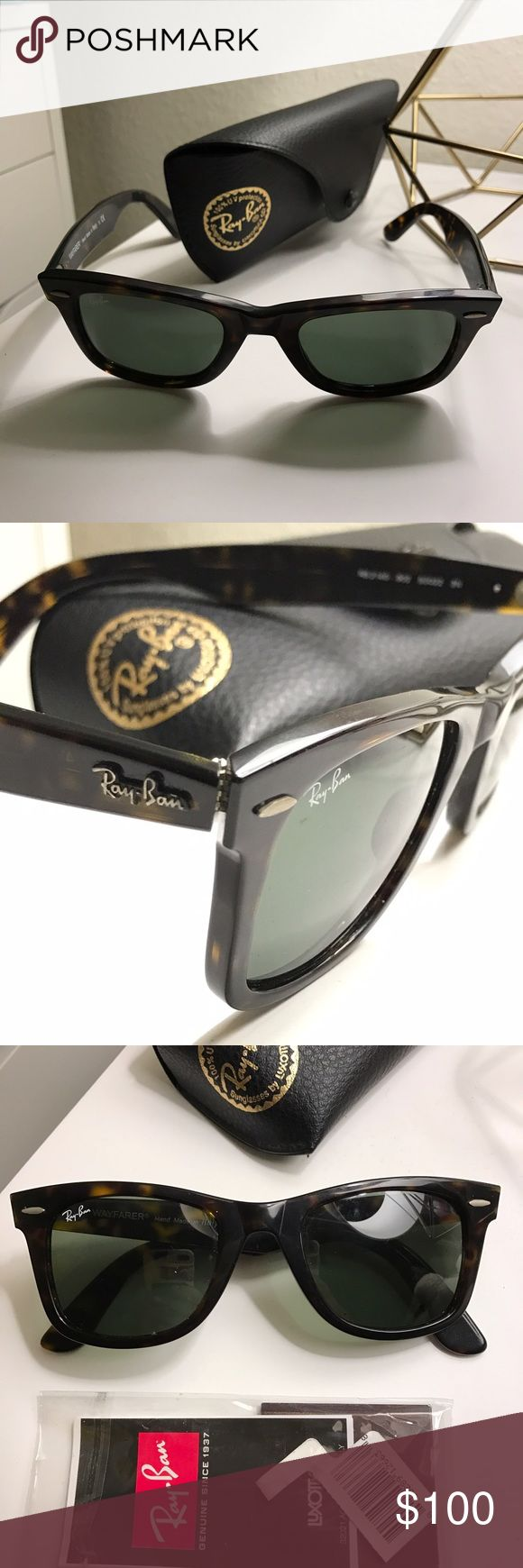 Ray-Ban Original Wayfarer Tortoise Sunglasses Ray-Ban Original Wayfarer Classic sunglasses in Tortoise. Men's style, not polarized. Purchased from Academy and is in EUC. Includes original lens case, price tag, and documents. Ray-Ban Accessories Sunglasses