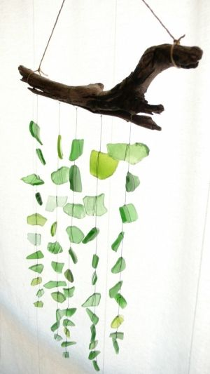 Sea glass , beach glass, driftwood. diy decorating ideas diy hand made