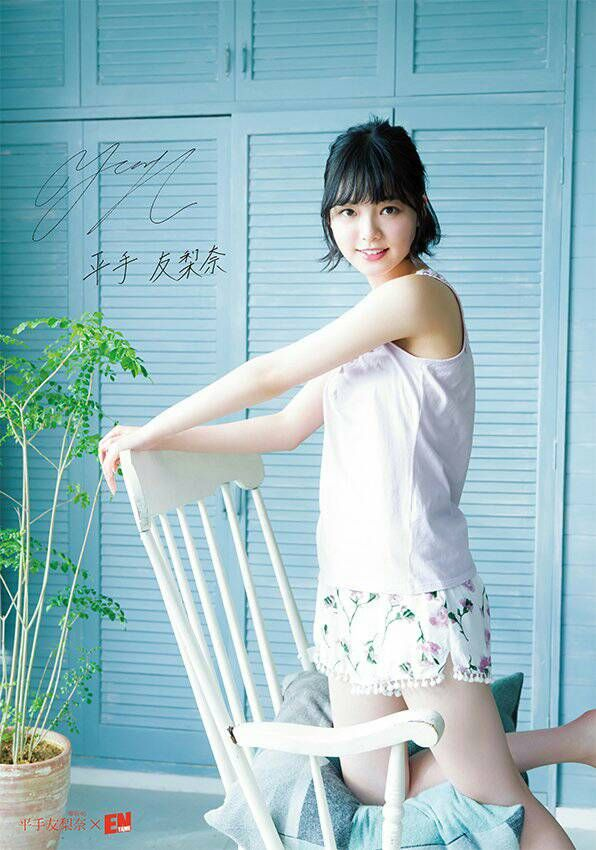 夏の涼しい服の平手友梨奈