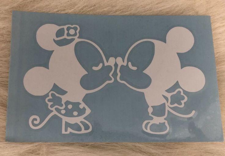 Mickey Minnie Mouse Kissing Retro White Vinyl Decal Sticker Car Window New | eBay Motors, Parts & Accessories, Car & Truck Parts | eBay!