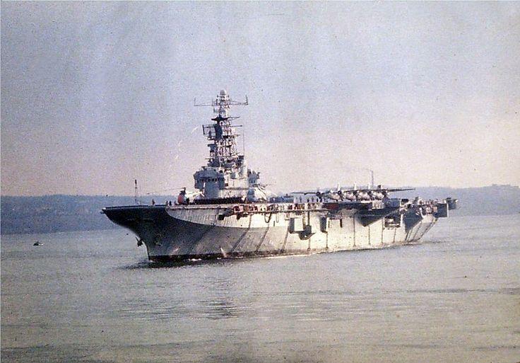 Bonaventure circa 1969, Canada's last Aircraft Carrier.