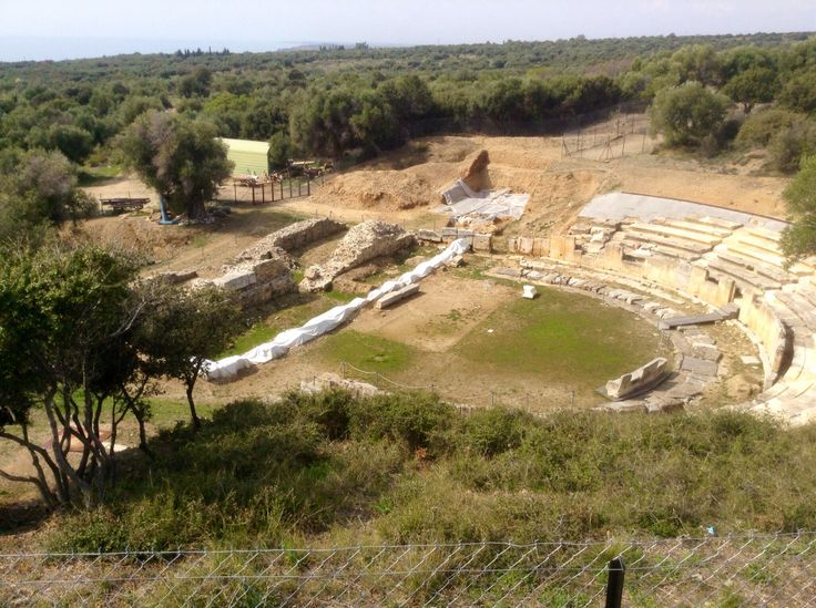 Ancient theater of Maronia, Thrace, NE Greece