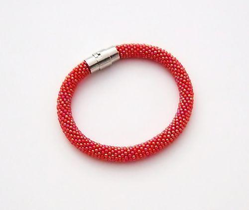 Bransoletka wąż czerwona w NaLeMi na DaWanda.com