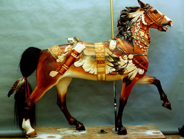 Muller Indian Pony, restored and painted by John Hughes and Pam Hessey