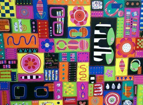 Akryl/collage on canvas. 80x60 cm.