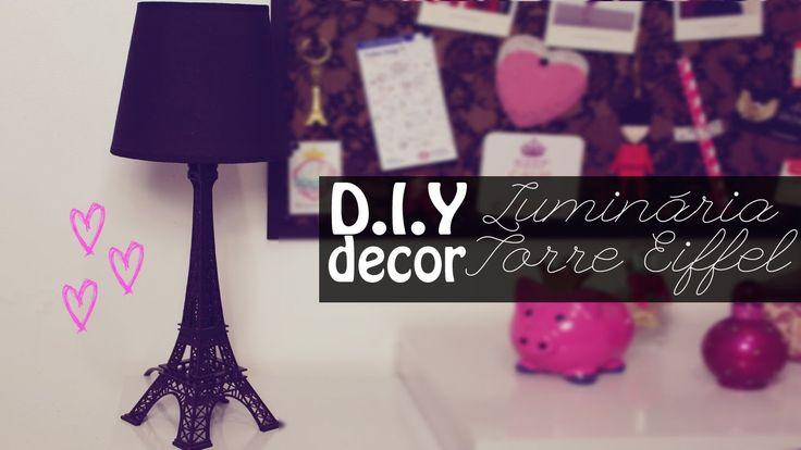 DIY decor -  Luminária Torre Eiffel (faça você mesma fácil para decoração)