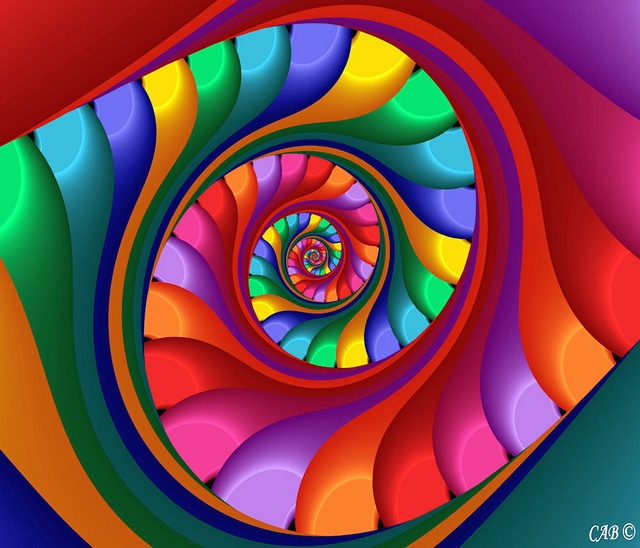 Archimedes Spiral: Based Art, Archim Spirals, Chaospro Mathart, Chaospro Math Art, Rainbows Colors, Colors Colors Colors, Archimedean Spirals, Archam Spirals, Bright Colors