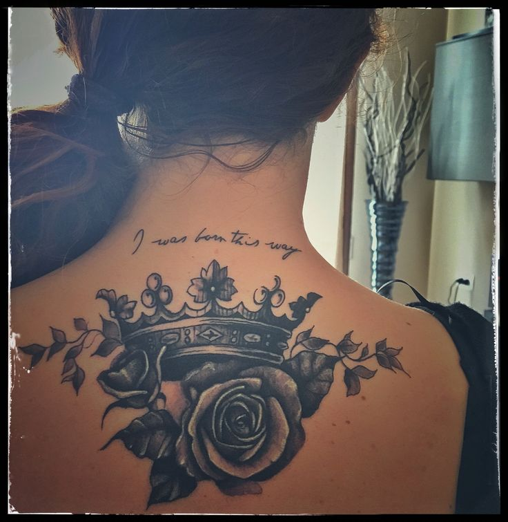 My third Tattoo crown, roses, ladygaga, I love it