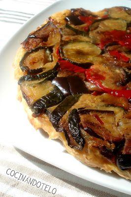 TARTA TATIN DE VERDURAS ASADAS por Cocinándotelo http://www.petitchef.es/recetas/tarta-tatin-de-verduras-asadas-fid-1355326