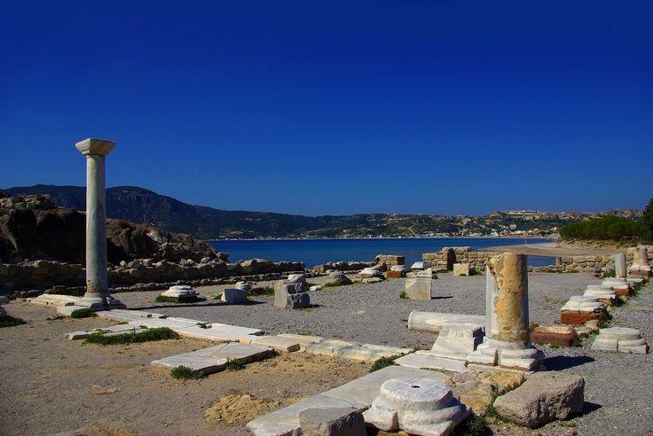Archaeological site overlooking Agios Stefanos beach, Kos Island