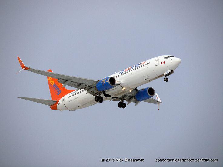 ConcordeNick ArtPhoto: Sunwing B-737-800 With Split Scimitar Winglets