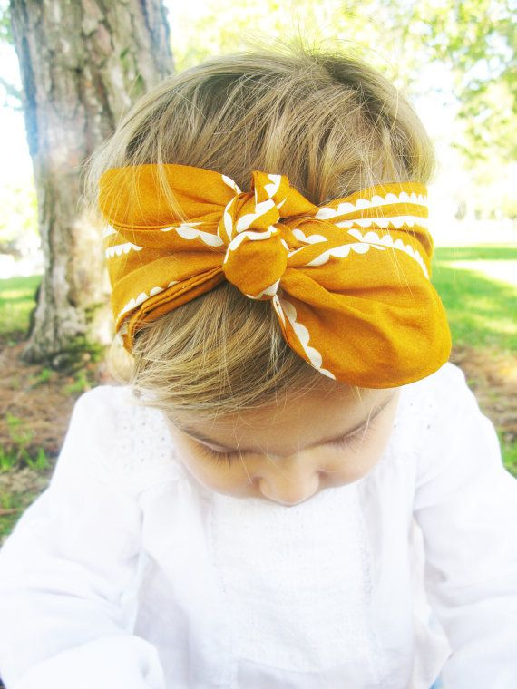 retro baby head wrap  retro head scarf for toddler  by TheMinis