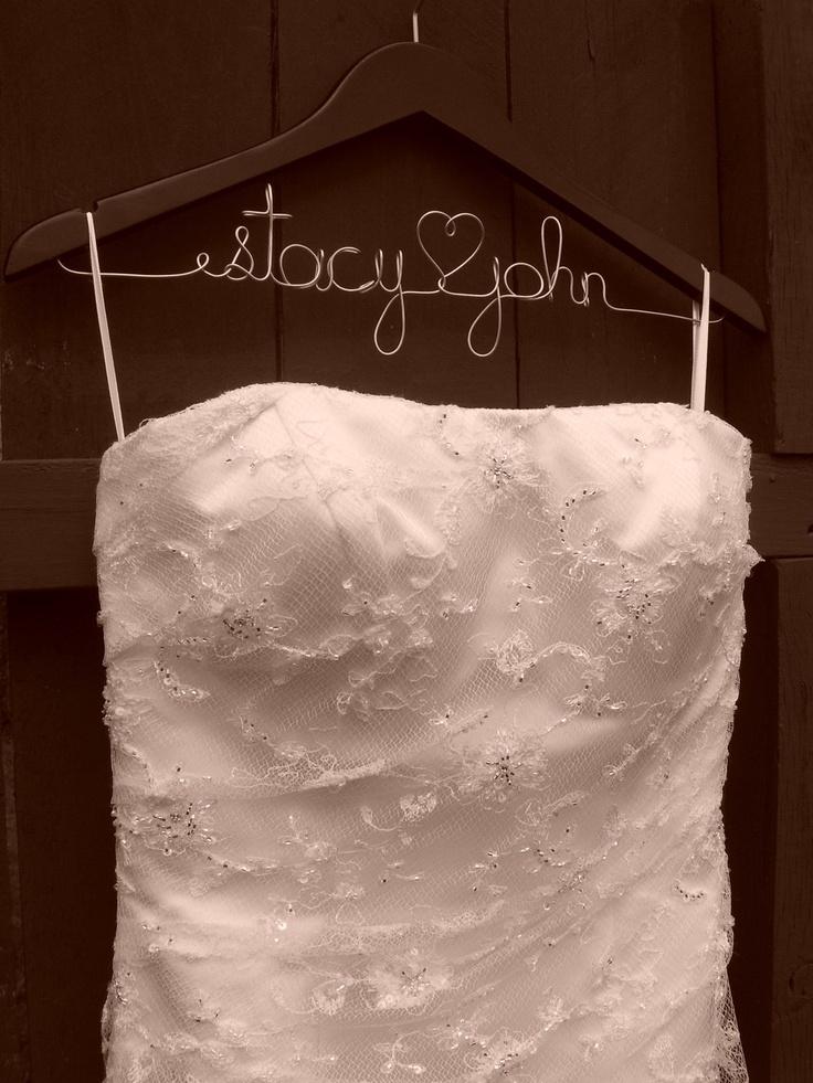 Personalized Wedding Hanger Bridal Gift Bridesmaid