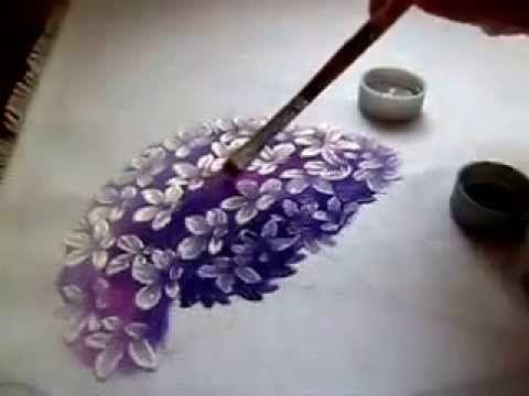como pintar hortênsia