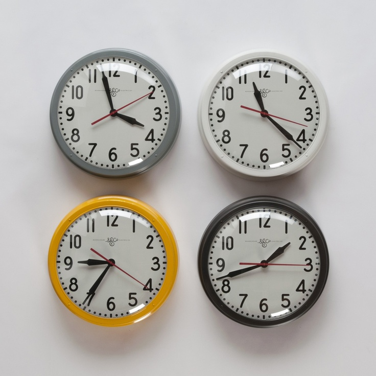 Schoolhouse Electric Clocks